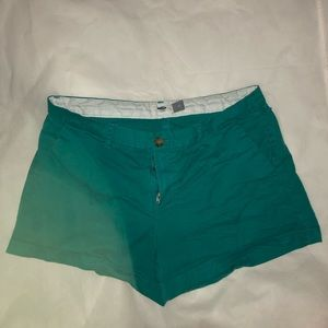 """Teal Old Navy shorts - 3"""" inseam"""